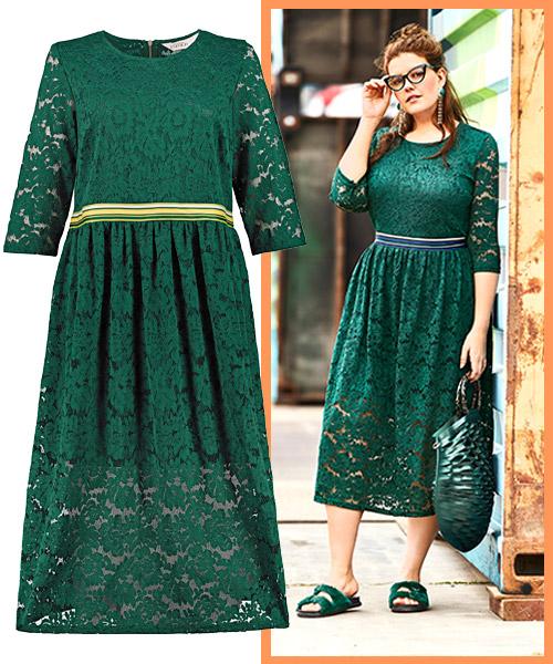 Grünes Taillenkleid Kleiderformen