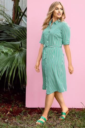 Kleiderformen Hemdblusenkleid mit Streifen