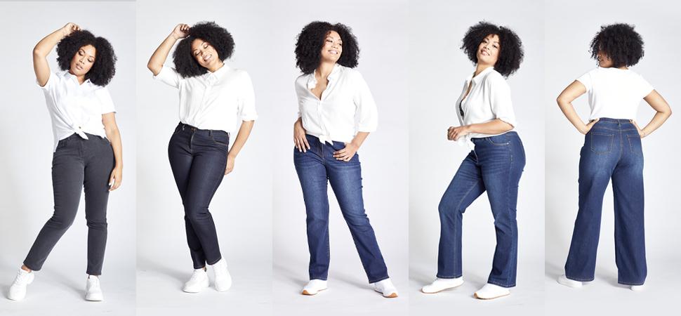 Damen dicke jeans für oberschenkel Jeans für