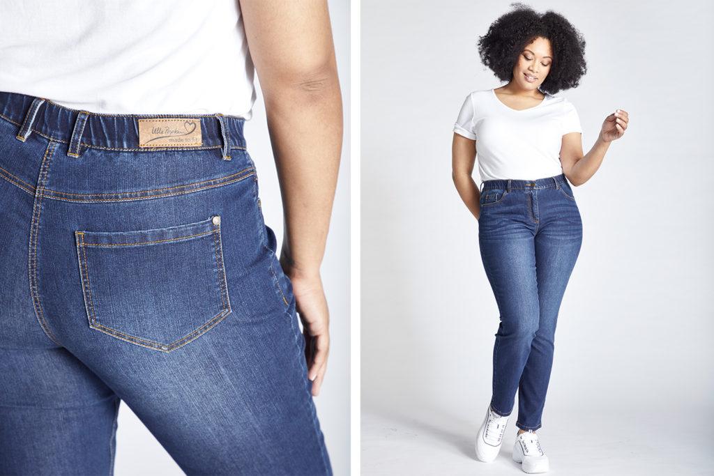 Damen dicke jeans für oberschenkel Weite Jeans