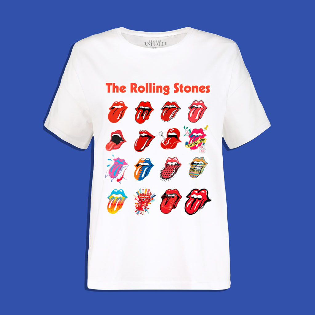 Shirt, Rolling Stones, Color-Tongues
